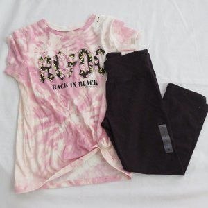 Justice AC/DC Shorts Outfit